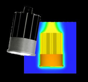 Luminaire LED downlight